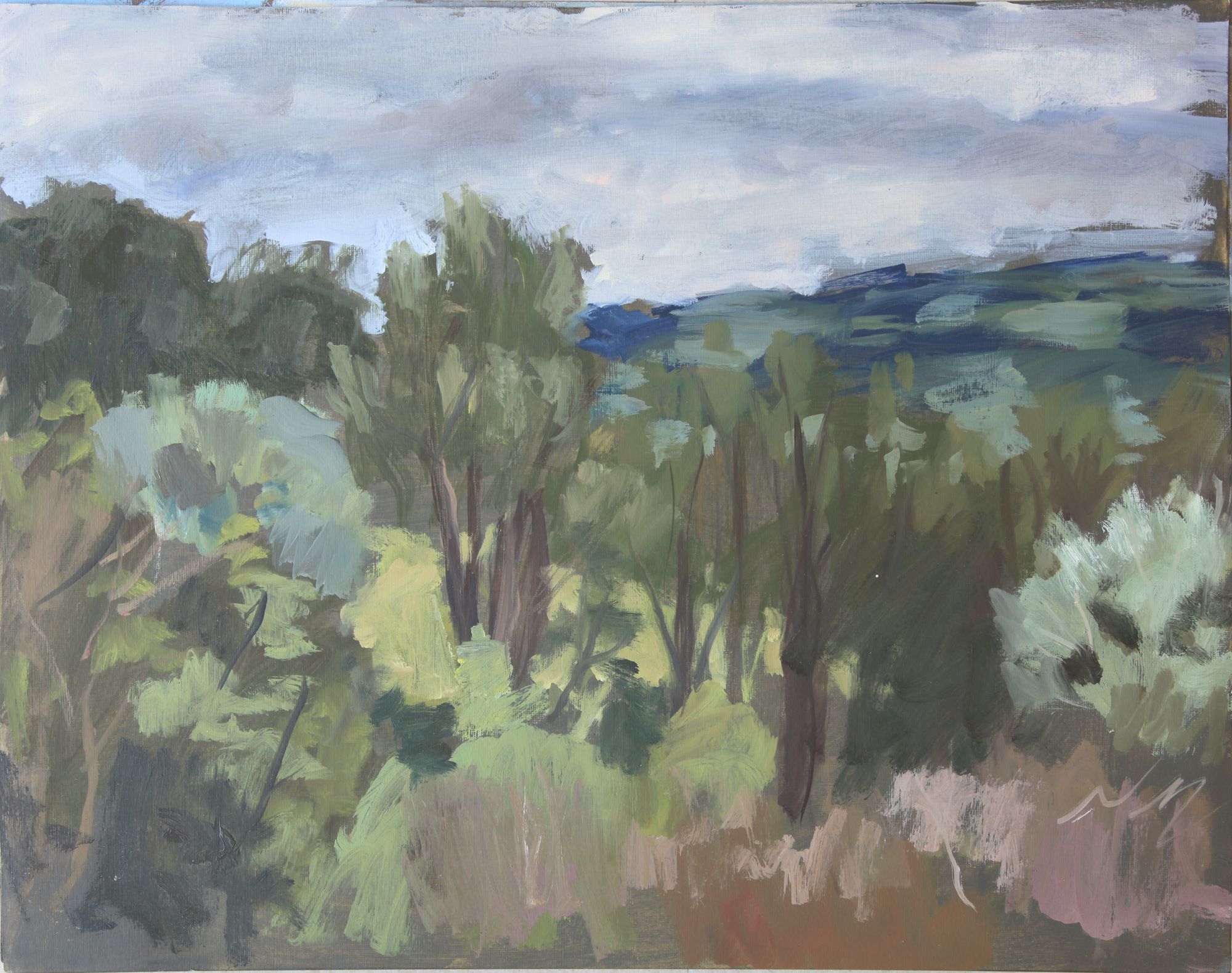 tuscan landscape oil on board